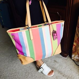 Coach tote bag multicolor